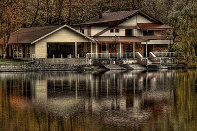 göl evi fotoğrafı