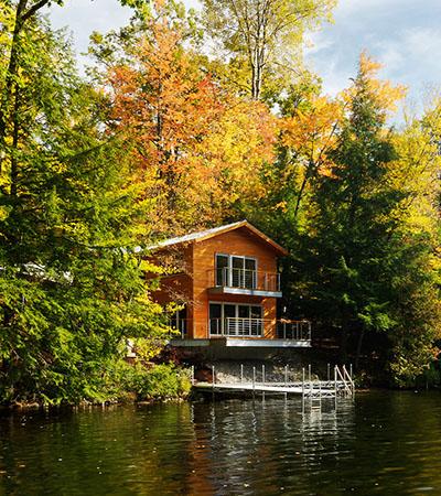 modern göl evi