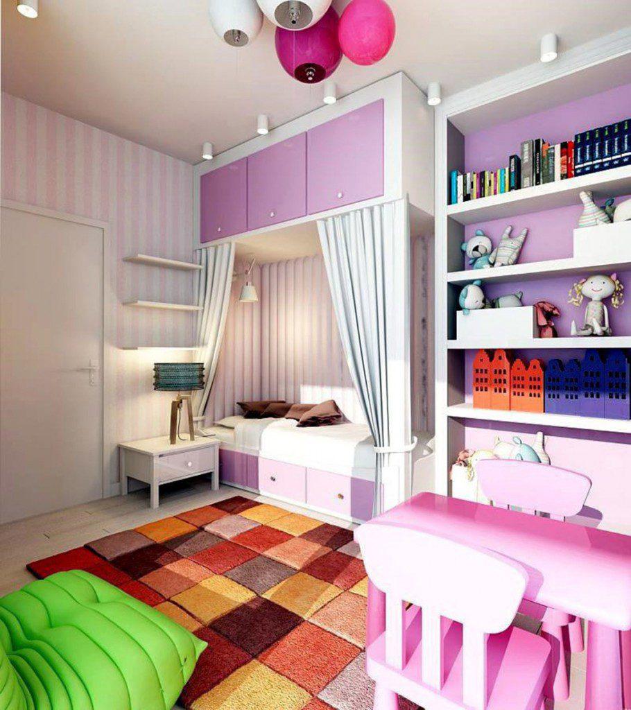 pembe kız çocuk odası resmi