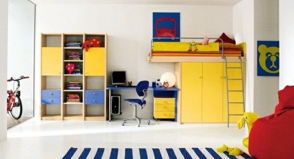 güzel ve canlı renkli genç odası