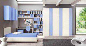 mor beyaz genç odası