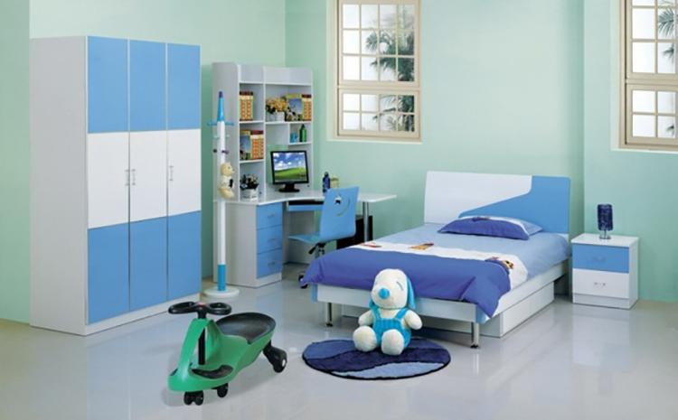 sade mavi genç odası