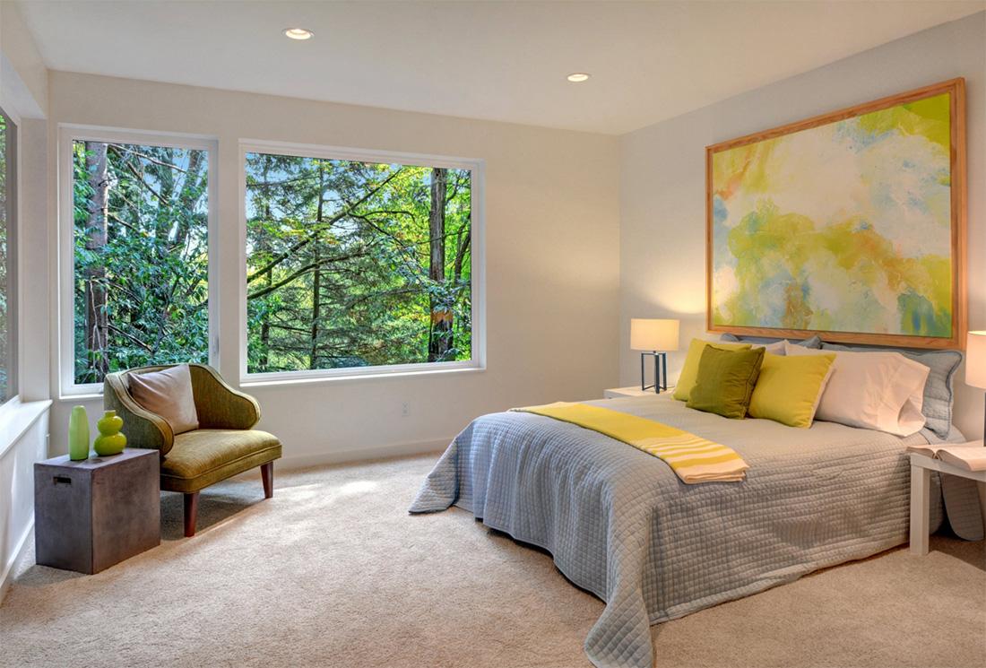 Çağdaş yatak odası tasarımı