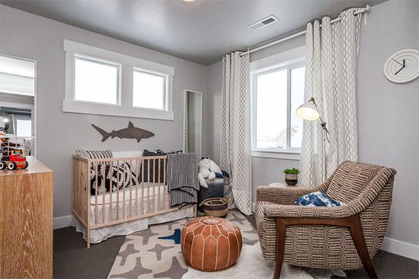 Şık bebek odası modeli