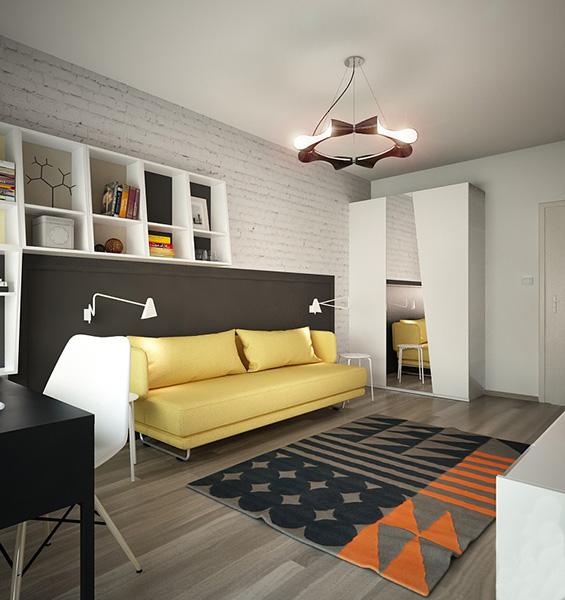 Şık genç odası tasarımı