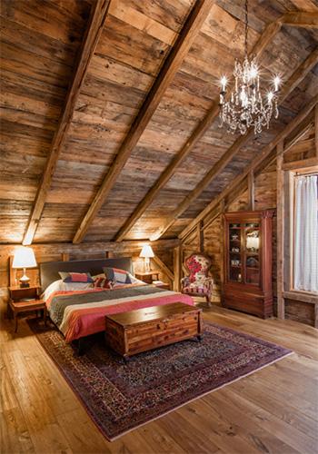 Ahşap yatak odası tasarımı