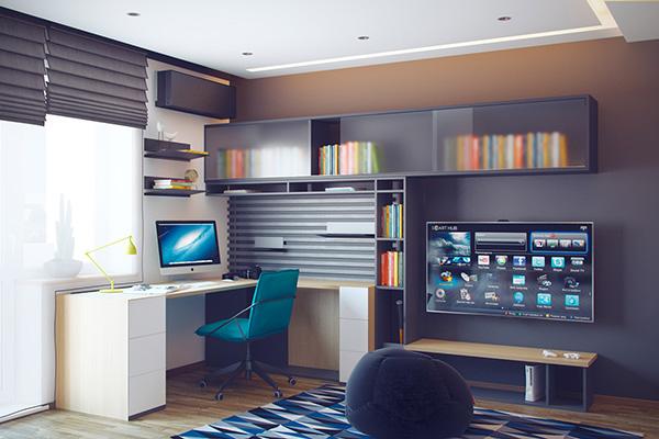 Canlı genç odası tasarımı