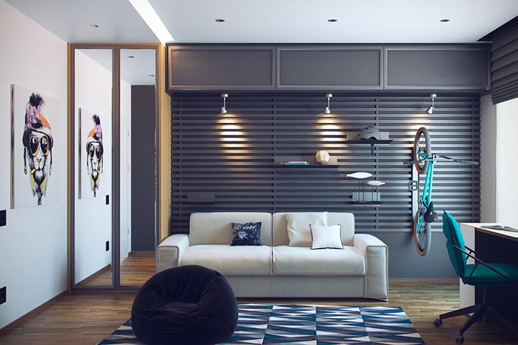 Cool genç odası tasarımı
