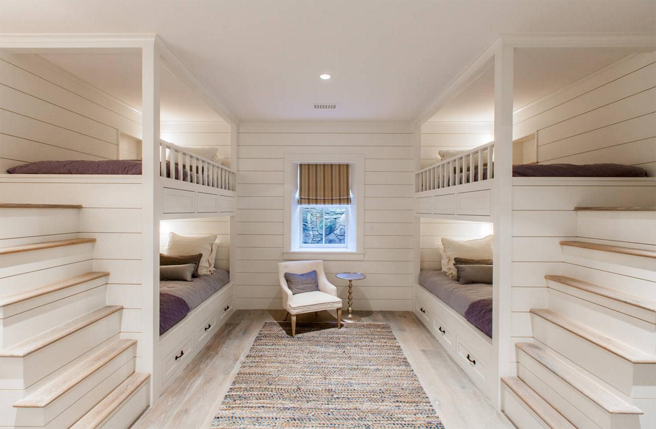 Dörtlü yatak odası tasarımı