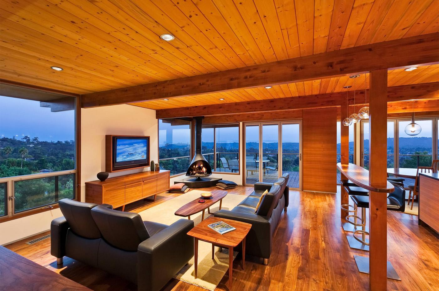 Dağ evi oturma odası modeli