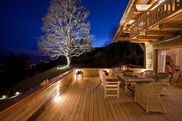 Dağ evi terası