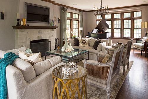 Güzel oturma odası modeli