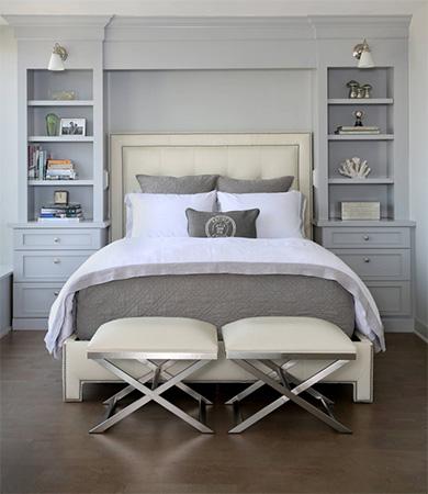 Gri yatak odası tasarımı