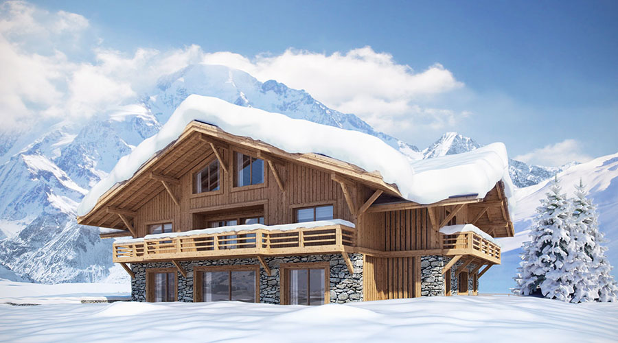 Harika dağ evi