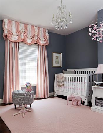 Kız bebek odası modellerine başarılı bir örnek