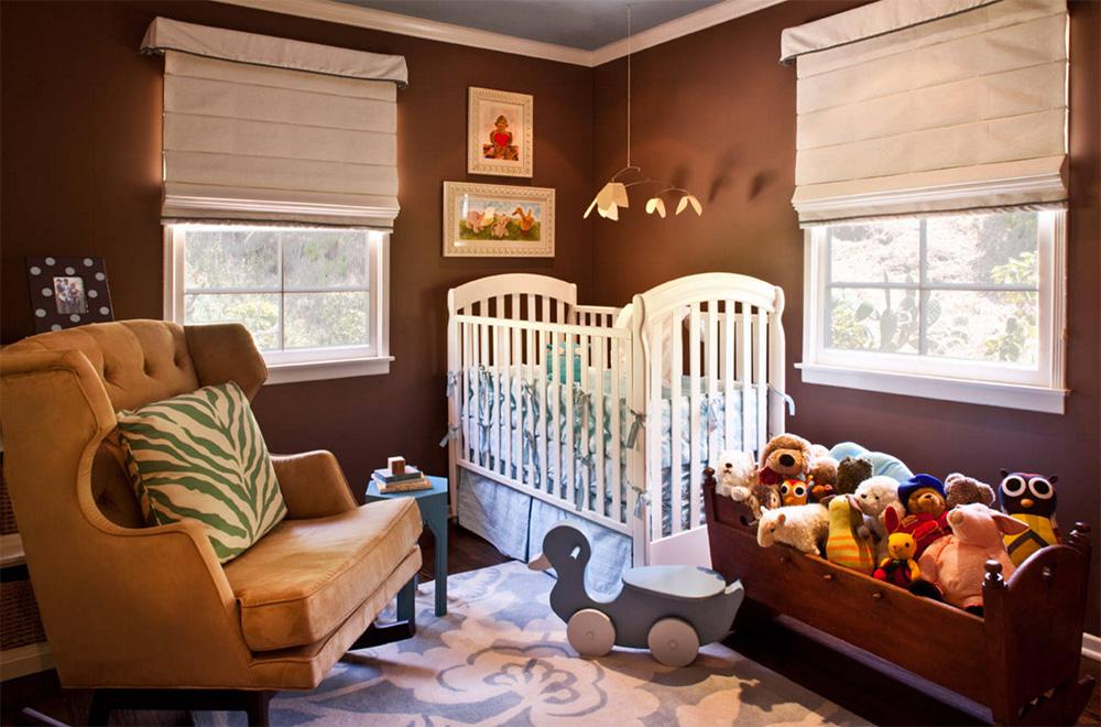 Kahverengi bebek odası modeli, çikolata rengi tonlarında