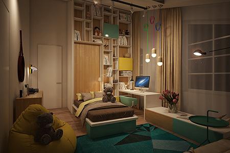 Kaliteli genç odası tasarımı