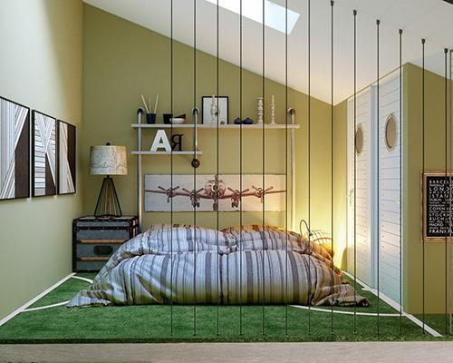 Kurgusal genç odası tasarımı