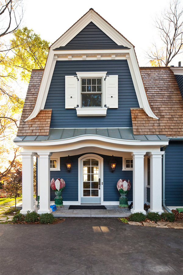 Mavi ev tasarımı