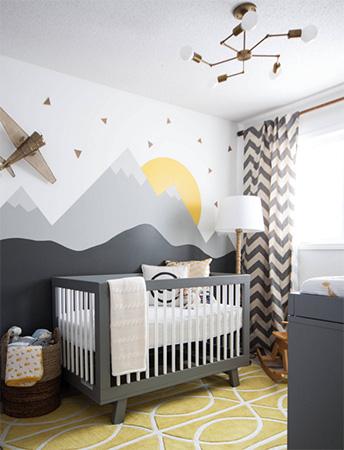 Modern bebek odası tasarımına iyi bir örnek