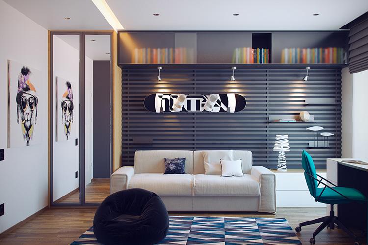 Rahat genç odası tasarımı