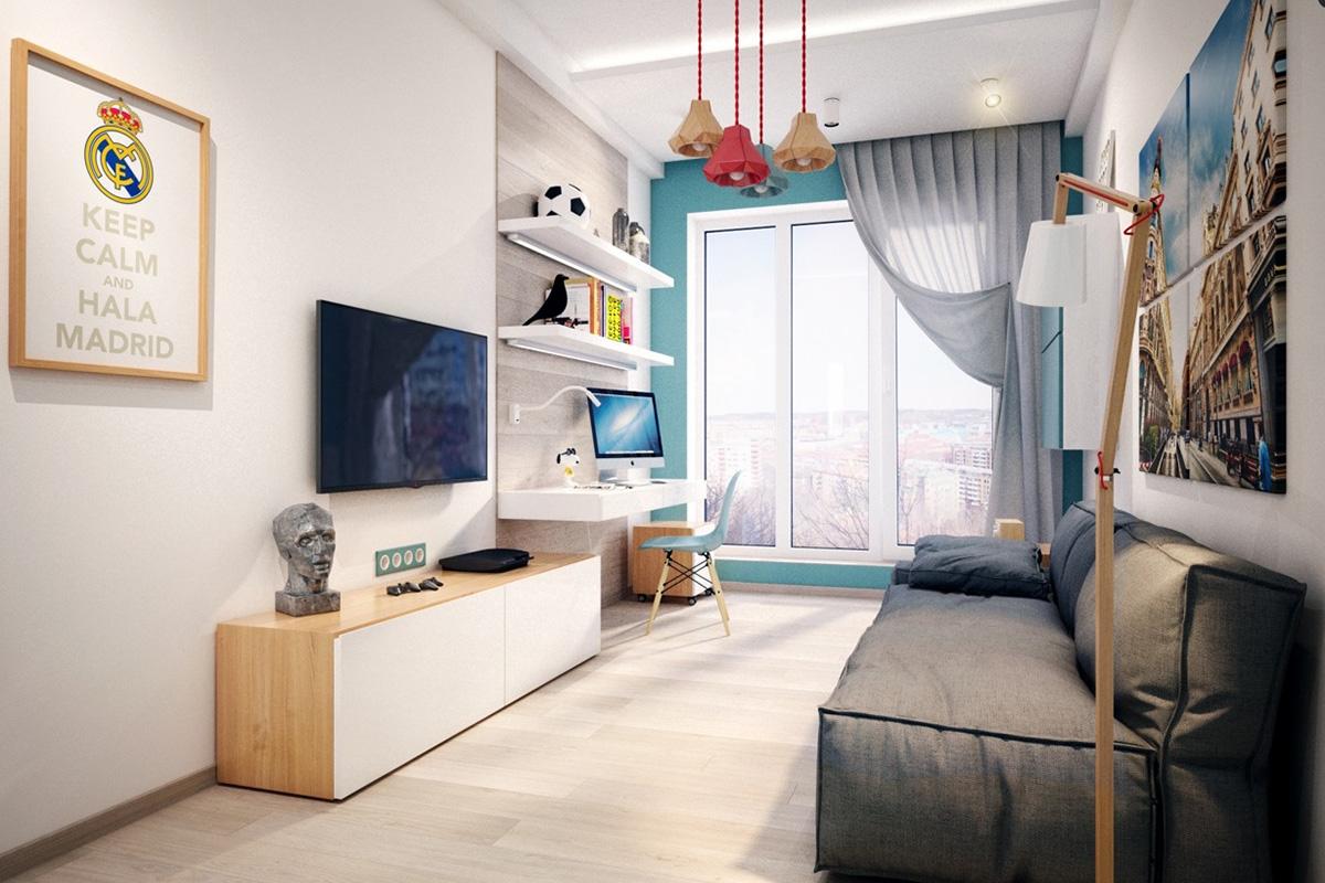 Real Madrid genç odası tasarımı