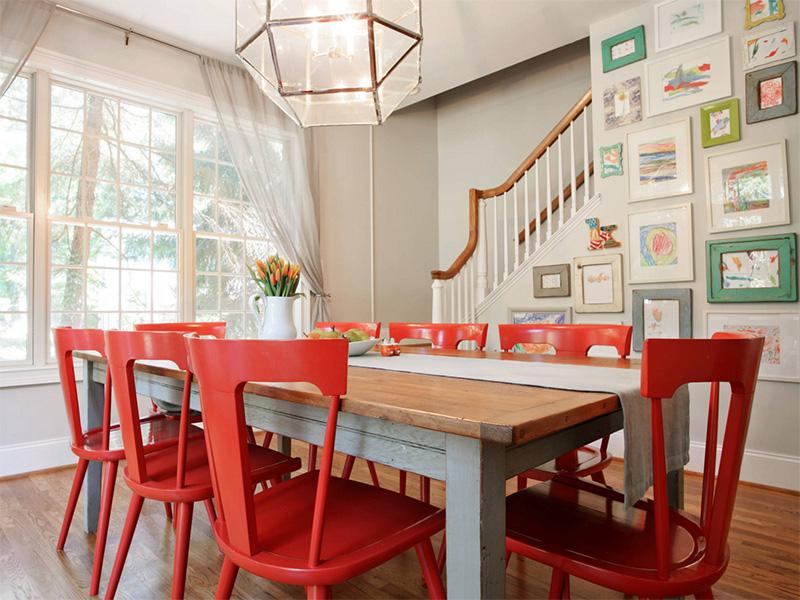 Renkli yemek odası modeli