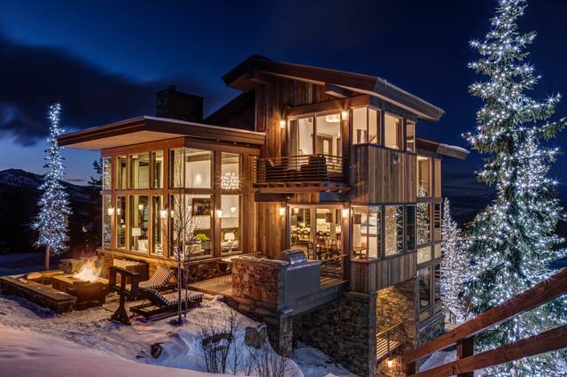 Rustik dağ evi