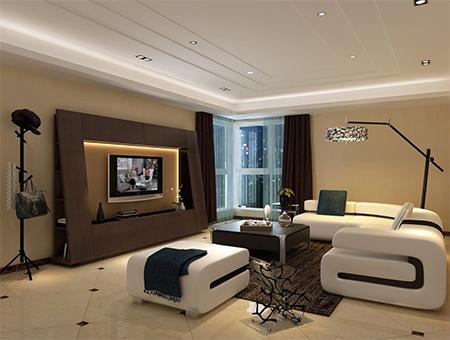 Süper modern oturma odası modeli