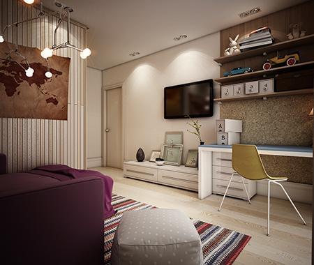 Sıcak genç odası tasarımı