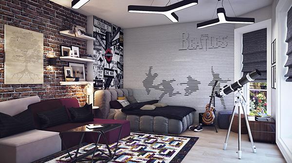 Sanatsal genç odası tasarımı