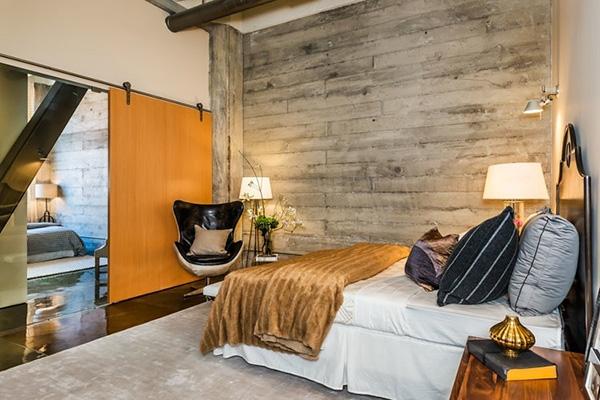 Sarı yatak odası kapılarına güzel ve farklı bir örnek