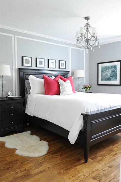 Siyah yatak odası tasarımı