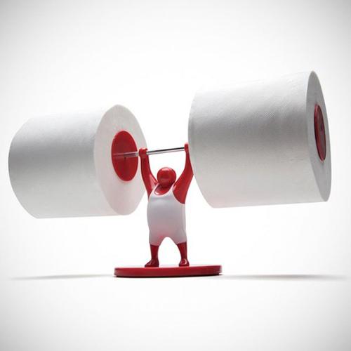 Güçlü adam figürlü kağıtlık