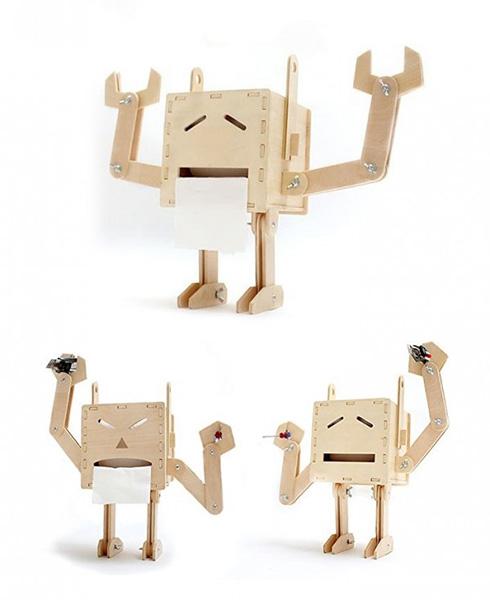 Robot kağıt tutacağı