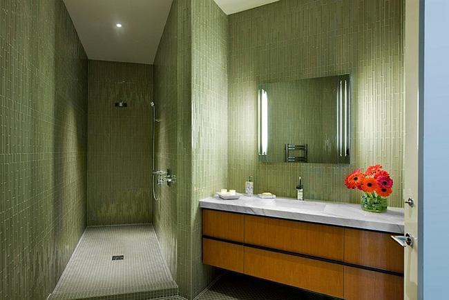 Yeşil banyo modeli