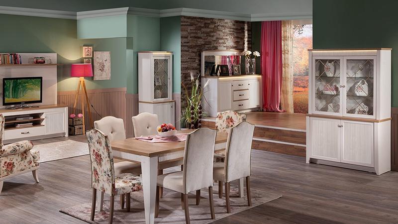 Masalımsı yemek odası takımı; İstikbal Glory..