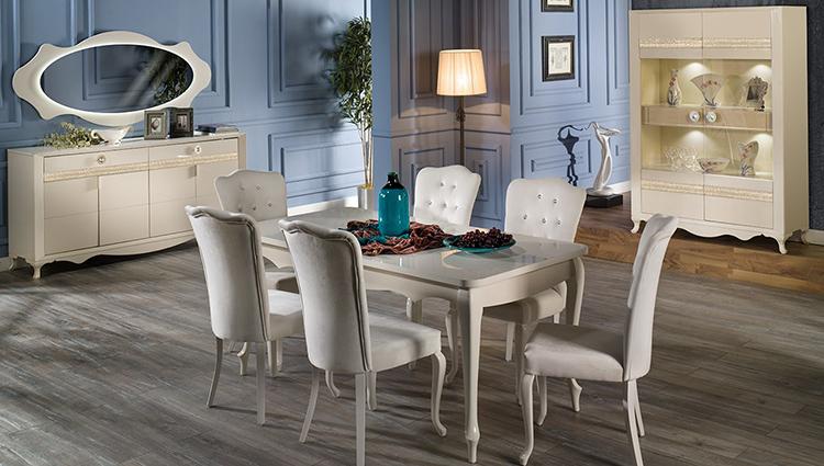 Klas bir yemek odası takımı; İstikbal Sedef..