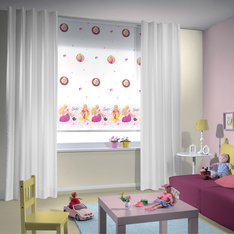 Kız çocukları için Barbie perde modeli..