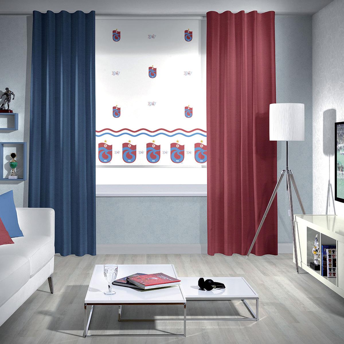 Trabzonspor armalı Trabzonspor store perde tasarımı..