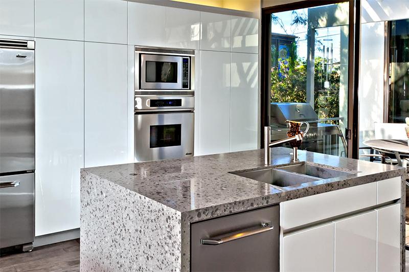 Modern Gri Mutfak Tezgahı Örnekleri
