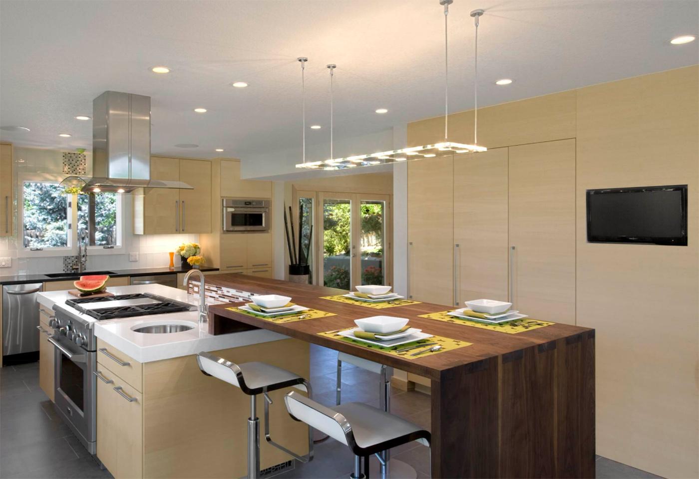 Mutfak tezgahları için harikulade oturmalı bir örnek..