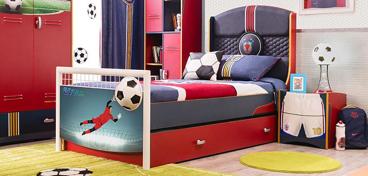 Futbol için çocuk odası takımları..