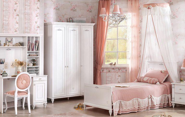 Genç Bayan Odası Tasarımı Romantic