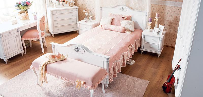 Çilek şık genç bayan odası tasarımları..