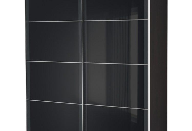 Modern siyah sürgülü gardrop modeli..