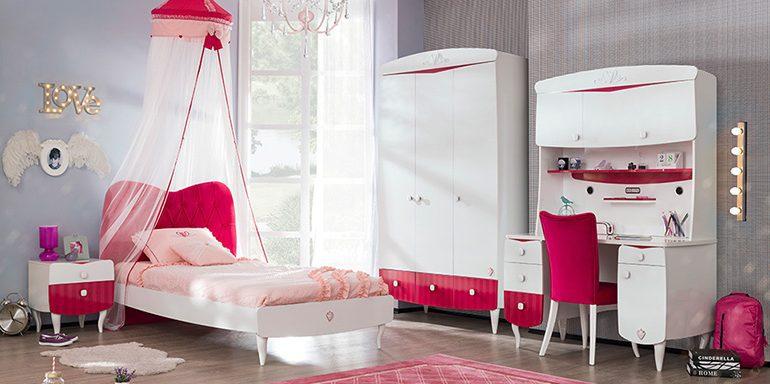 Yakut Çilek genç bayan odası modeli..