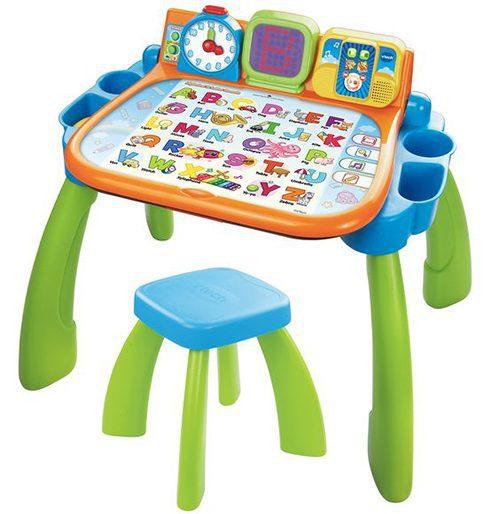 Çok renkli çocuk oyun ve çalışma masası