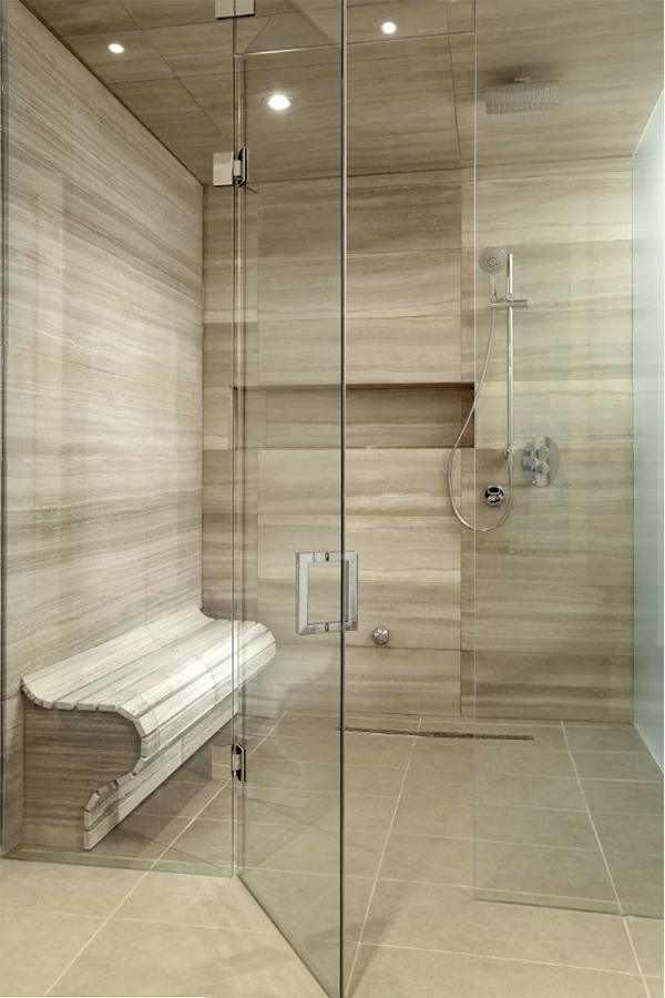 Bej rengi 2017 model modern duşakabin tasarımı..