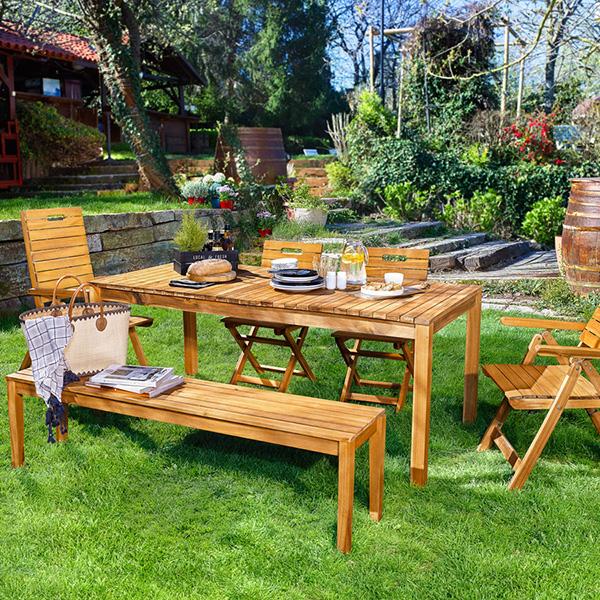 Kullanışlı ve açılabilir bahçe masası..